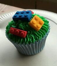 Lego brick icing edible cake toppers birthday  24 pieces