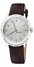 Mondaine MH1.R3610.LG Helvetica #1 Reg Hand Winder's Men Leather Watch New