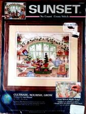 "Sunset No Count Cross Stitch Kit 13947 Cultivate Nourish Grow NEW 12"" x 10"""