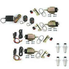 FOUR Door Popper Kit Shaved Handle 105 lb Solenoids Remote Control ratrod deco