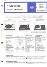 Telefunken Service Manual for S 500 / S 600 / Chassis S 500 hifi