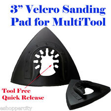 "3"" Oscillating Multi Tool Sanding Pad Fein Porter Cable Black and Decker Ridgid"