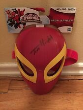 TOM HOLLAND SIGNED SPIDER-MAN MASK CAPTAIN AMERICA CIVIL WAR AUTO PSA IRON PROOF