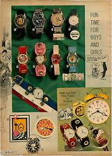 1970 ADVERT 2 Pg Character Watch Hot Wheels Buffy Jody The Family Affair Barbie