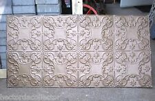 """Sale 24"""" x 48"""" Antique Victorian Nouveau Ceiling Tin Tile Shabby Chic Gold"""