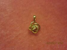 Diamond & 14K Yellow Gold LOVE KNOT Pendant for Necklace