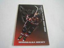 2001/02 OHL MISSISSAUGA ICE DOGS POCKET SCHEDULE***ONTARIO HOCKEY LEAGUE***