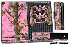 Designer Skin for XBOX ONE 1 Gaming Console+2 Controller Sticker Decal PINK