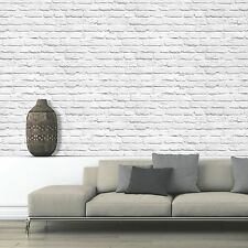 MURIVA PAINTED WHITE BRICK WALLPAPER (102539) NEW FEATURE WALL ROOM DECOR