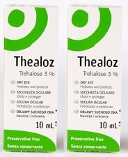 2x Thealoz Eye Drops 10ml Preservative Free For the treament of dry eye