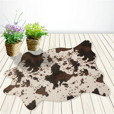 Soft Anti-skid Carpet Cow Mat Rug For Living Dining Bedroom Floor Brown Uomere