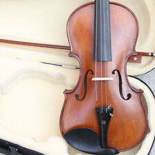 Antique 4/4 Hand-Made Antique Style Violin +Bow +Rosin +Case Power Sound