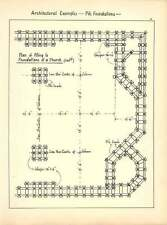1898 Plan Of Piling To Foundations Of  Church Sleepers Columns Sketch