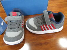 NEW K-Swiss Jackson SDE VLC Shoes Infant/Toddler size 4 M Grey/Red $38.00
