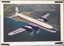 AFFICHE ANCIENNE  AVION DELTA AIR LINES DOUGLAS GOLDEN CROWN DC-7   Ci.1955-57 '