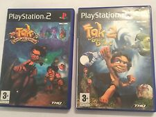2 PLAYSTATION 2 PS2 GAMES TAK 1 THE GREAT JUJU CHALLENGE + TAK 2 STAFF OF DREAMS