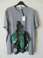 MONCLER GAMME BLEU T-SHIRT HAND PAINTED DIPINTA A MANO ORIGINALE MADE IN ITALY