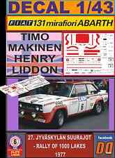 DECAL 1/43 FIAT 131 ABARTH T.MAKINEN 1000 LAKES 1977 (FULL) (03)