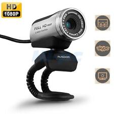 AUSDOM AW615 Full HD 1080P USB2.0 Webcam Camera Video w/Mic for PC Skype US