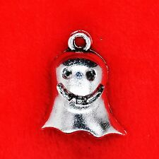 4 x Tibetan Silver Cute Ghost Halloween Goth Charm Pendant Jewellery Making