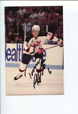 Tommy Albelin New Jersey Devils Calgary Flames Nordiques Signed Autograph Photo