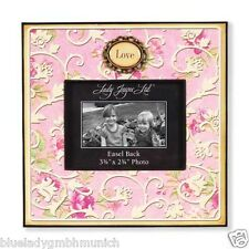 Bilderrahmen ✿ 9 x 7cm rosa creme ✿ Love ✿ FRAME ✿ Cadre ✿ Cornice Fotorahmen