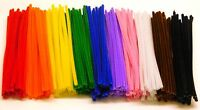 250 Pipe Cleaners Chenille Craft Stems150mm x 4mm in Assorted colours