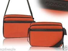 Coach Nylon Flight Case F71406 Gunmetal Orange Agsbeagle COD
