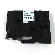 12mm Black on White Label Tape Compatible For Brother TZ TZe 231 Label Maker