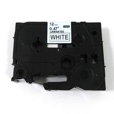 12mm Black on White Label Tape Compatible For Brother TZ TZe 231 Label Maker