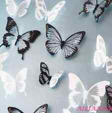 18PCS Crystal 3D Butterfly Wall Stickers Room Wallpaper Art Decal Home  Decor HY
