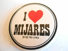 Cool Vintage I Love Manuel Mijares Pop Musician Music Advertising Pinback