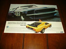 1969 MUSTANG  BOSS 302  ***ORIGINAL 2 PAGE AD*** TRANS AM