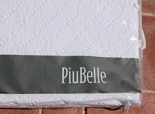 PiuBelle PORTUGAL Queen MATELASSE COVERLET Bedspread Cottage WHITE Anthropologie