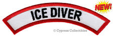 ICE DIVER CHEVRON - SCUBA DIVING iron-on DIVE CERTIFICATION PATCH embroidered