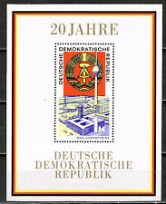 Germany DDR Coat of Arms Souvenir Sheet 1965 MLH