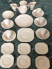 Stunning 32 Pc Wedgwood Blush Rose Teaset And Matching Sandwich Set With Teapot