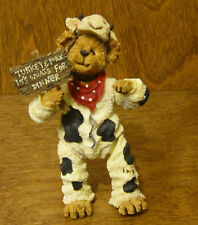 Boyds Shoebox Bears #3230 Angus Bearger...Quit Your Beefin',  Poseable MIB