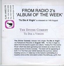 (CB207) The Divine Comedy, To Die A Virgin - 2006 DJ CD