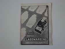 advertising Pubblicità 1942 MACCHINA PER SCRIVERE LAGOMARSINO TOTALIA