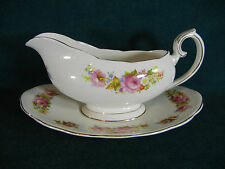 Royal Albert Chatsworth Gravy Boat with Under Plate