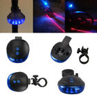 2 Laser +5 LED Flashing Lamp Rear Cycling Bicycle Bike Tail Safety Warning Light
