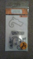 Hampton Art Halloween Clear Stamps - Witch SC0728 -#595 -NEW!!