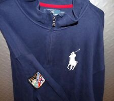 17507 Vintage Mens POLO RALPH LAUREN 1933-34 SKI Patch Sweater Pullover 4XL Tall
