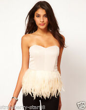 Bustier with Feather Peplum UK 18 EU 46