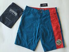 New w Tags & Bag Authentic Vilebrequin Melta Blue & Red Swim Trunks Men Size S