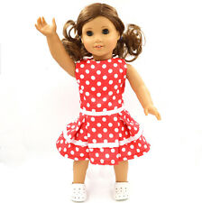 2016 new  Handmade fashion clothes dress for 18inch American girl doll party b62