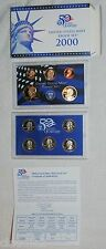 2000 9 coin United States Mint Proof Set in original box with COA - one owner