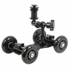 "UK MAGAZZINO! cameraplus ® FLEX Skater Dolly (NERO) + 7"" MAGIC ARM Binario di Scorrimento"