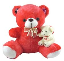 Tickles Red Teddy with cute baby  Stuffed Soft Plush Toy 28 cm AT-ST121